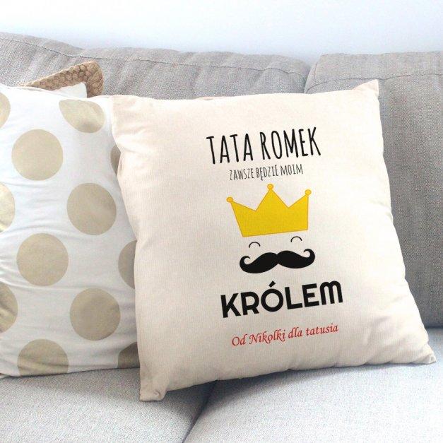 Poduszka personalizowana z nadrukiem KORONA TATY