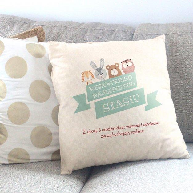 Poduszka personalizowana z nadrukiem URODZINY