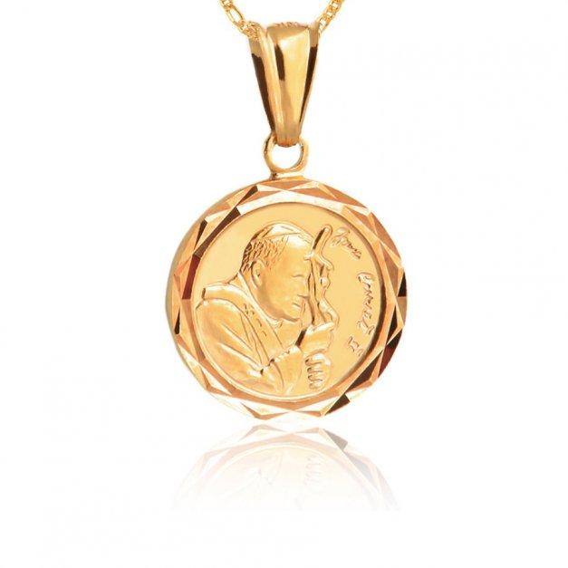 Medalik z Łańcuszkiem Prezent Na Chrzest GRAWER YN42