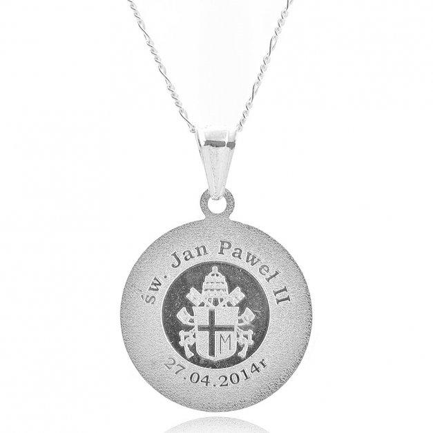 Prezent na komunię medalik z łańcuszkiem Verona
