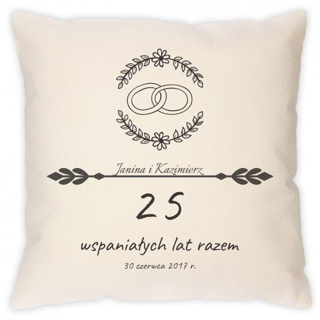 Poduszka personalizowana z nadrukiem Rocznica