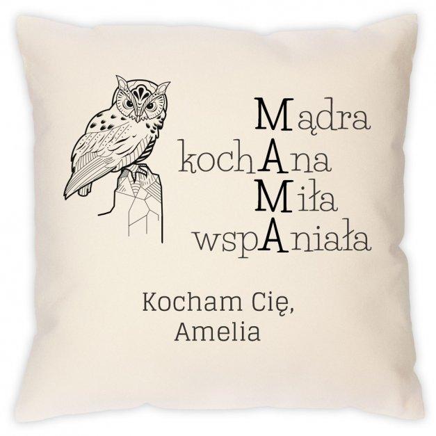 Poduszka personalizowana z nadrukiem MAMA