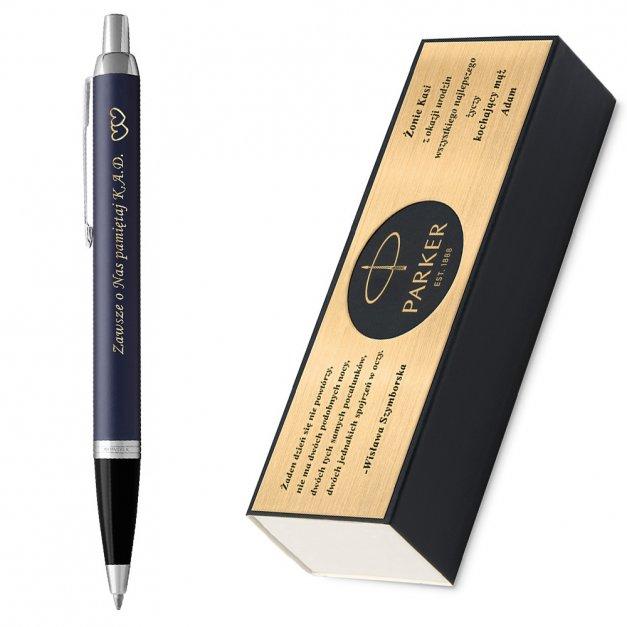 Długopis Parker IM Blue CT GRAWER i ETUI