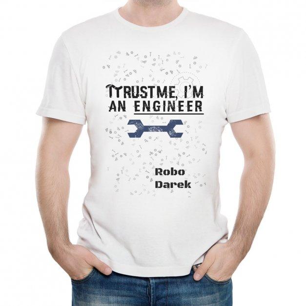 Koszulka Męska z Twoim Nadrukiem INŻYNIER