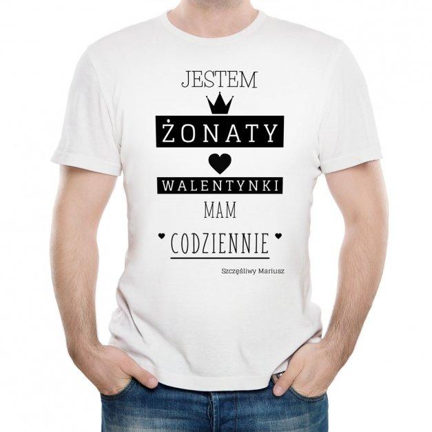 Koszulka Męska z Twoim Nadrukiem ŻONATY