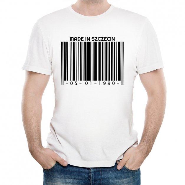 Koszulka Męska z Twoim Nadrukiem KOD KRESKOWY