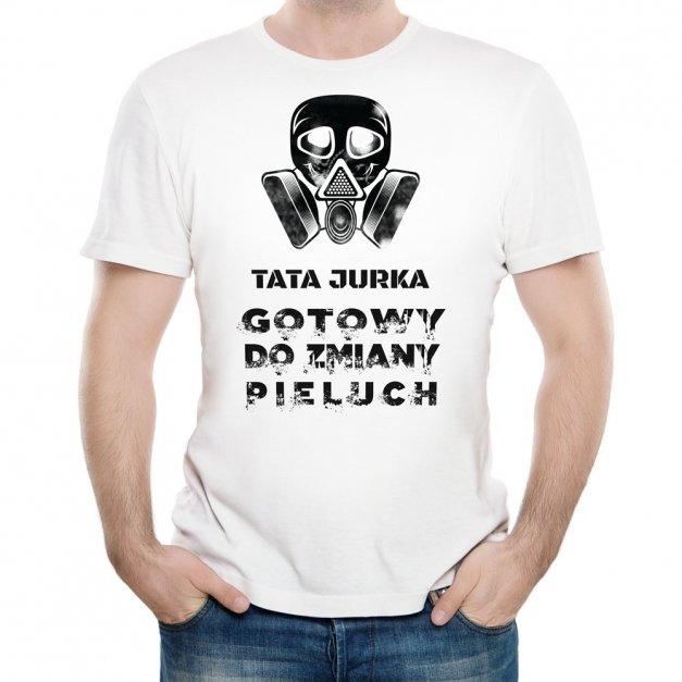 Koszulka Męska z Twoim Nadrukiem ZMIANA PIELUCHY