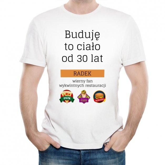 Koszulka Męska z Twoim Nadrukiem PIZZA KEBAB BURGER