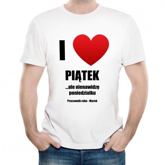 Koszulka Męska z Twoim Nadrukiem LOVE PIĄTEK