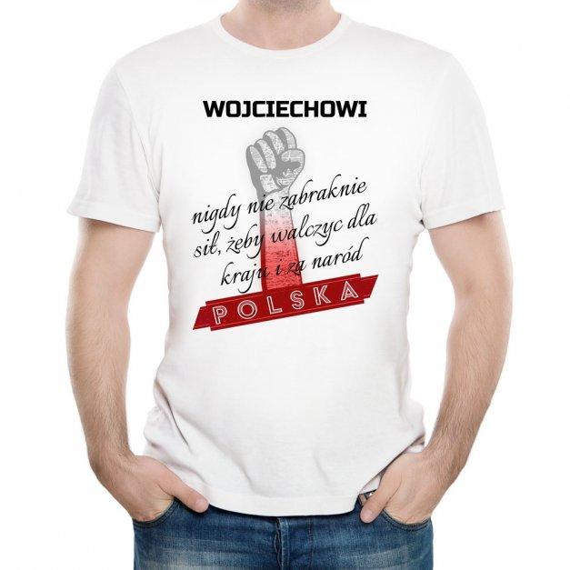 Koszulka Męska z Twoim Nadrukiem NARÓD