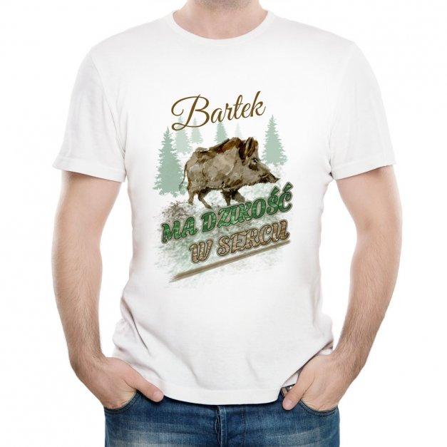 Koszulka Męska z Twoim Nadrukiem DZIKOŚĆ W SERCU