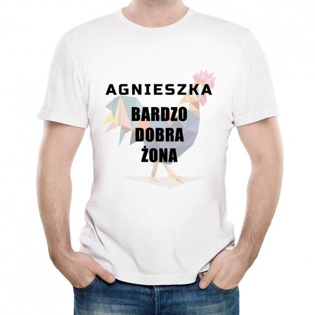 Koszulka Męska z Twoim Nadrukiem DOBRA ŻONA