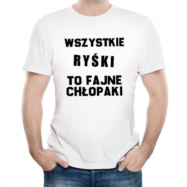 Koszulka Męska z Twoim Nadrukiem FAJNE CHŁOPAKI