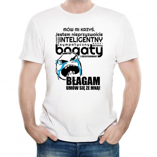 Koszulka Męska z Twoim Nadrukiem UMÓW SIĘ ZE MNĄ