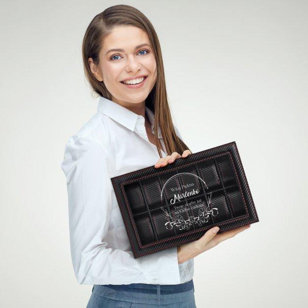 Karbonowa Szkatułka Kuferek na Zegarki GRAWER Piękna