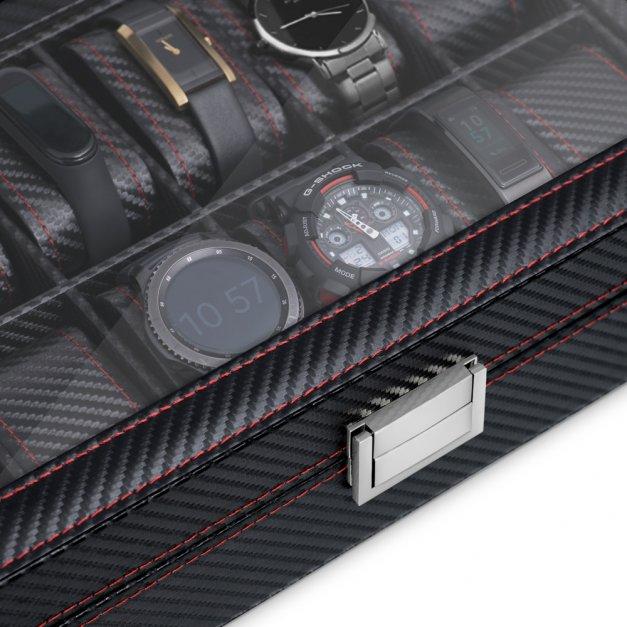 Karbonowa Szkatułka Kuferek na Zegarki GRAWER Zegarek