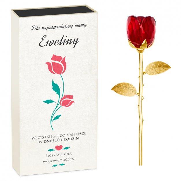 Kryształowa Róża w Personalizowanym Pudełku