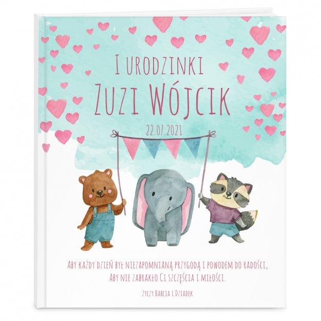 Księga Baśni Dla Dzieci z Nadrukiem Urocze Zwierzątka na Urodziny
