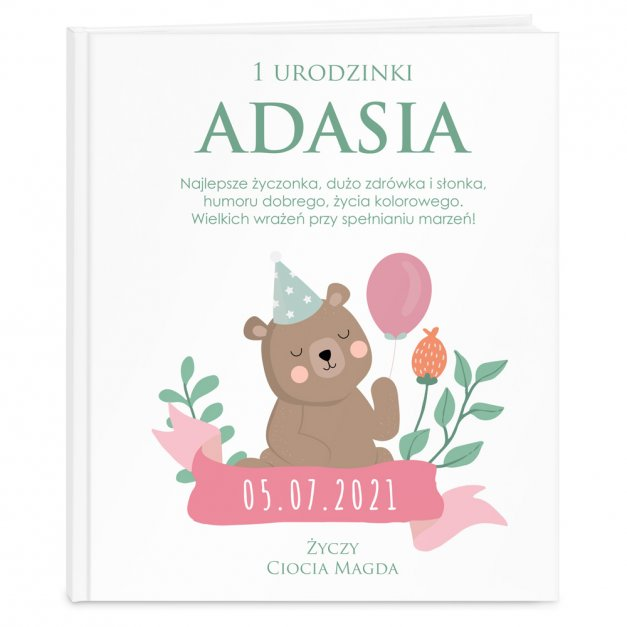 Księga Baśni Dla Dzieci z Nadrukiem Urodziny Misia
