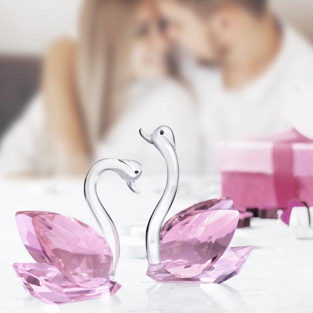 Kryształowe Łabędzie od Rodziców w Dniu Ślubu