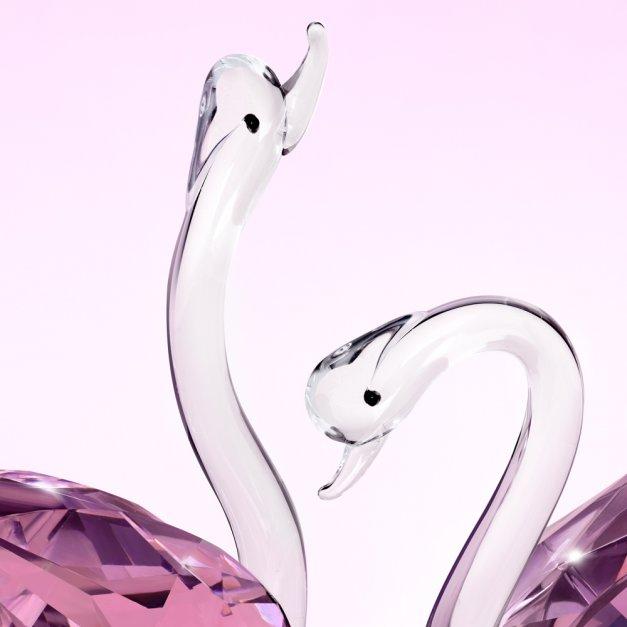 Kryształowe Łabędzie Podziękowanie dla Rodziców dla Pary