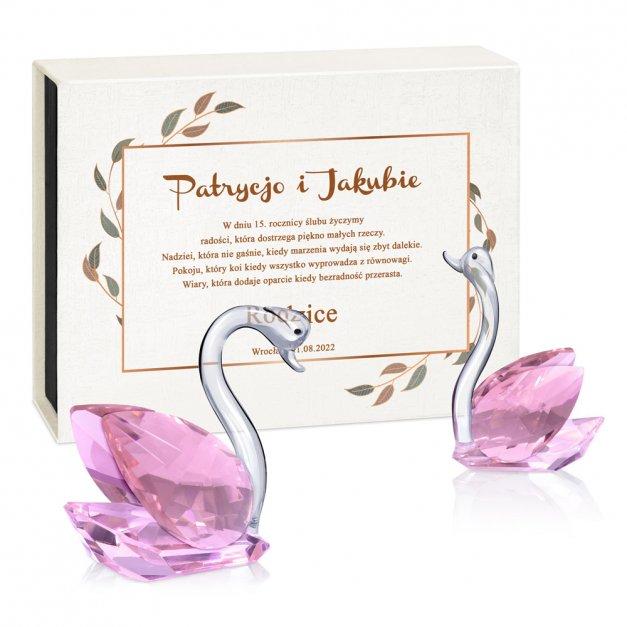 Kryształowy Łabędź dla Pary na 15. Rocznicę Ślubu