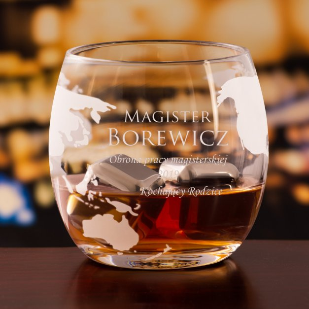 Zestaw Do Whisky Karafka GLOBUS 2 Szklanki dla Magistra