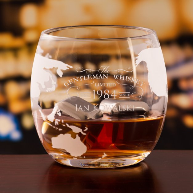 Zestaw Do Whisky Karafka GLOBUS 2 Szklanki Gentleman Whiskey