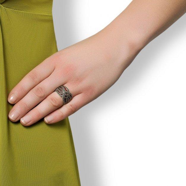 Srebrny Pierścionek 925 Orient Grawer