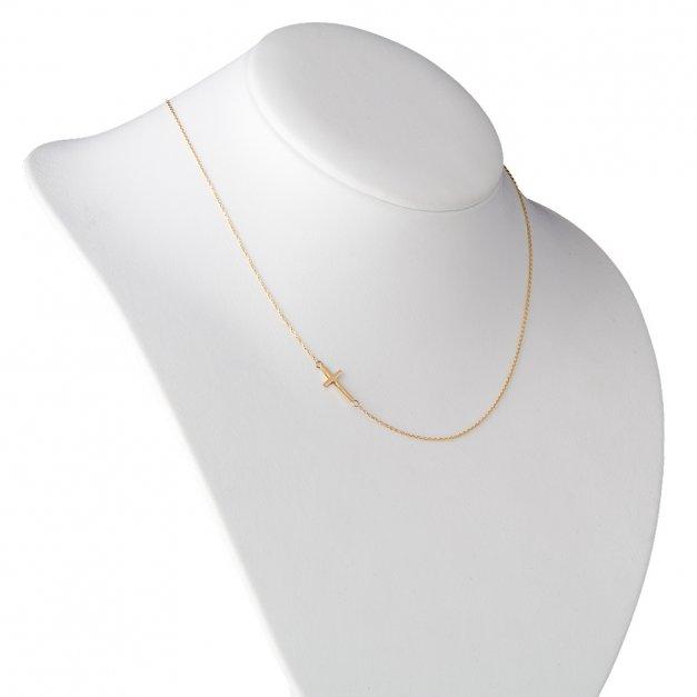 Złoty Naszyjnik z Krzyżykiem 585 GRAWER