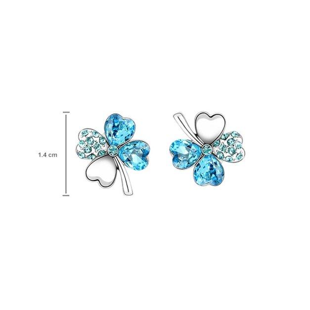 Komplet Crystal Elements Koniczynki
