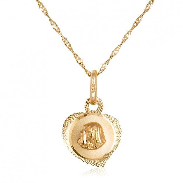 Medalik Matka Boska ze Złota 585 GRAWER ZZ79