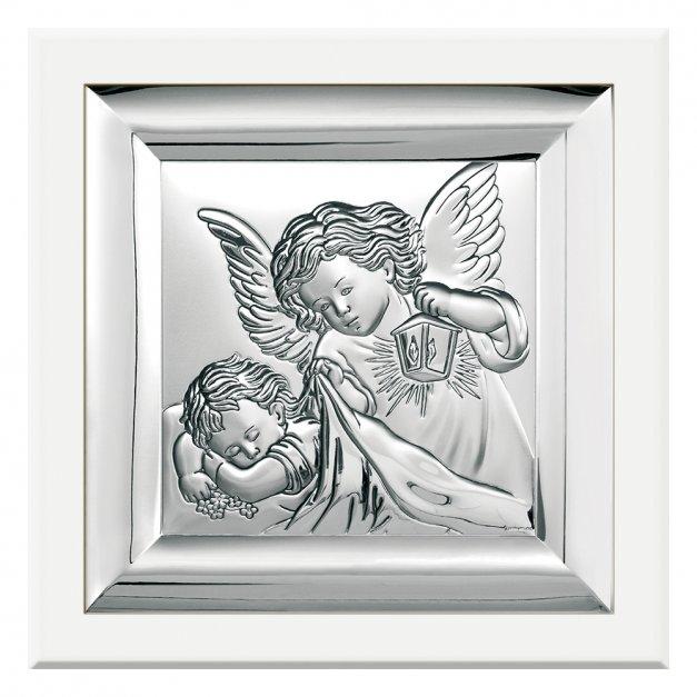 Obrazek Srebrny BIANCO Anioł Stróż GRAWER
