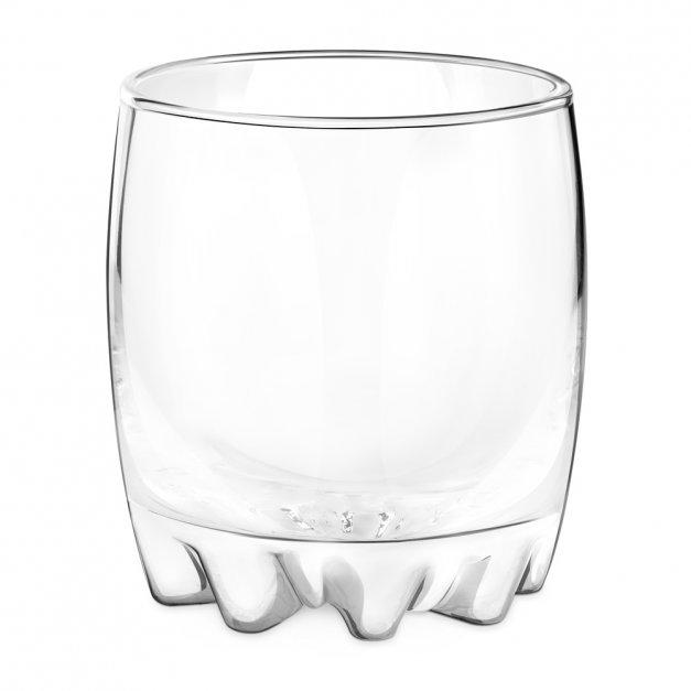 Szklanka grawerowana sylwana z dedykacją dla brata brodacza na urodziny