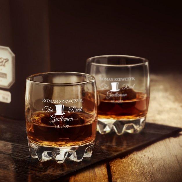 Szklanka grawerowana sylwana z dedykacją dla gentlemana