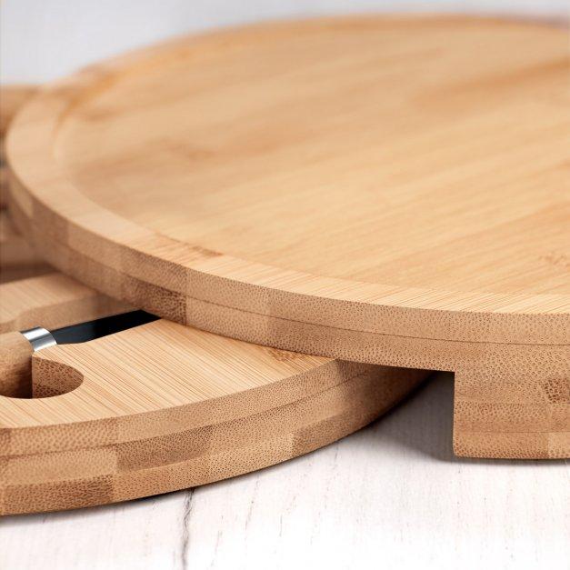 Deska drewniana do sera zestaw akcesoria grawer dla podróżnika