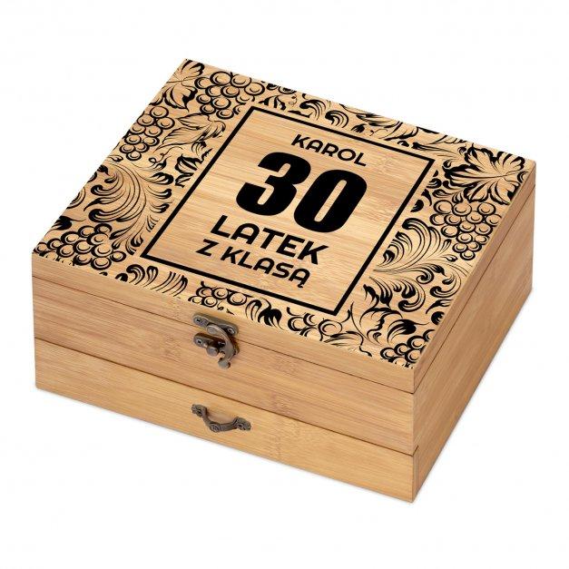 Akcesoria do wina dedykacja zestaw dla niego z okazji 30 urodzin