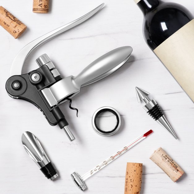 Akcesoria do wina dedykacja zestaw dla pary na 10 rocznicę