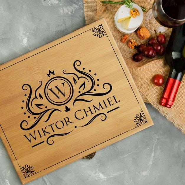 Akcesoria do wina dedykacja zestaw dla niego dla gentlemana