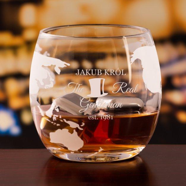 Zestaw do whisky karafka statek szklanki x4 grawer dla pary gentleman lady