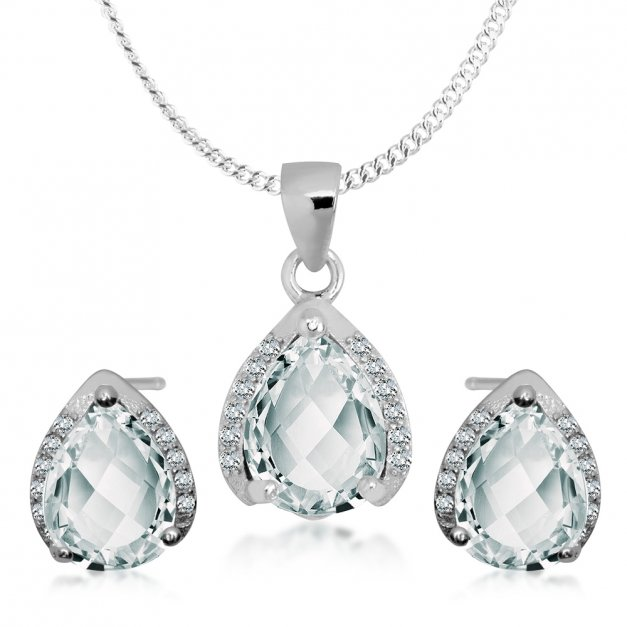 Srebrny Komplet Zestaw Biżuterii 925 z GRAWEREM YS07