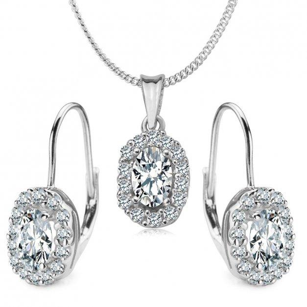 Srebrny Komplet Zestaw Biżuterii 925 z GRAWEREM YS11