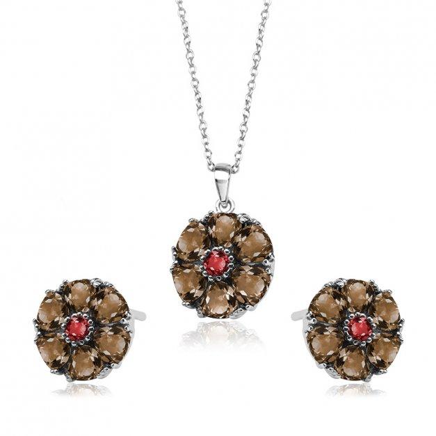Srebrny Komplet Zestaw Biżuterii 925 z GRAWEREM