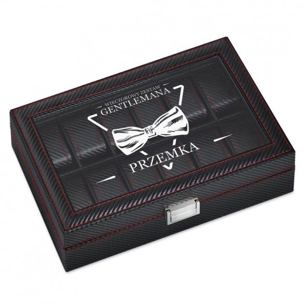 Karbonowa Szkatułka Kuferek na Zegarki GRAWER Dla Gentlemana
