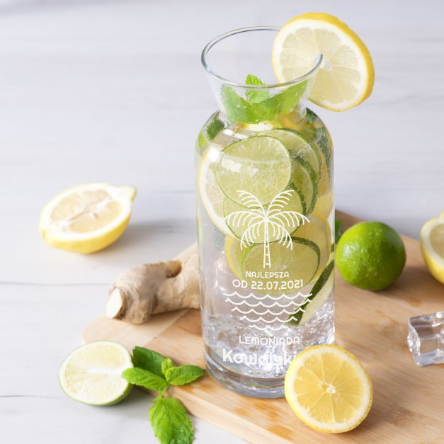 Karafka szklana na wodę grawer najlepsza lemoniada dla pary
