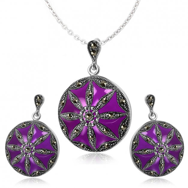 Srebrny Komplet Zestaw Biżuterii 925 z GRAWEREM YS26