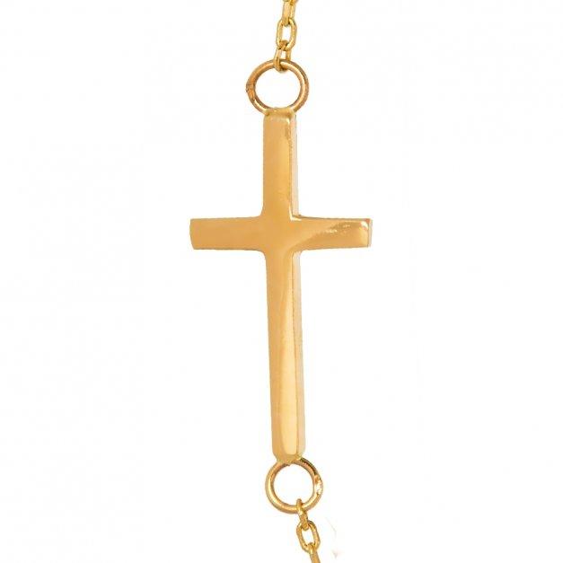 Złoty Naszyjnik 333 z Krzyżykiem Celebrytka Grawer