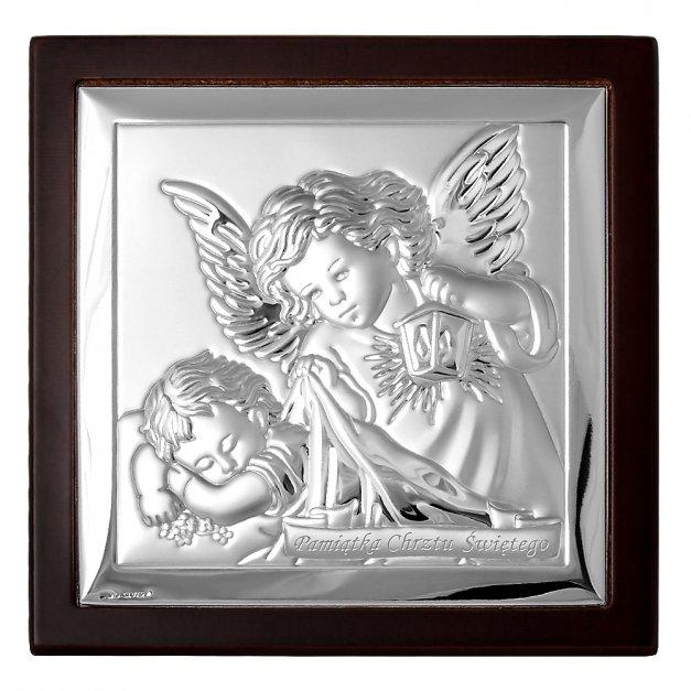 Obrazek Srebrny MARONE Anioł Stróż 14cm GRAWER