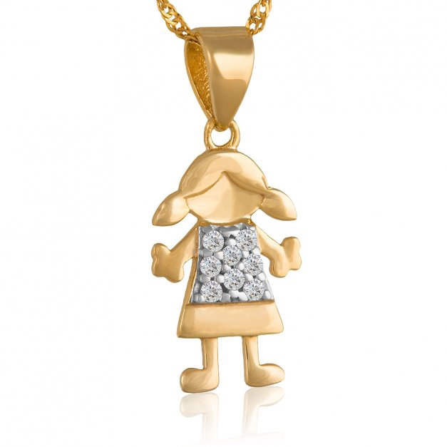Złoty Komplet Dziewczynka 333 GRAWER ZZ119