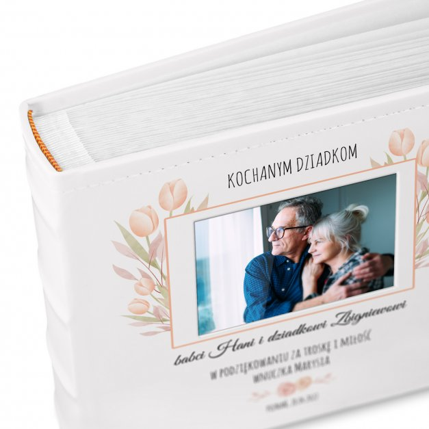 Album mały z oknem nadruk dedykacja dla babci i dziadka podziękowanie